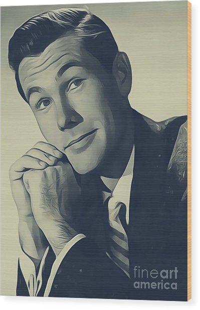 Johnny Carson, Vintage Entertainer Wood Print