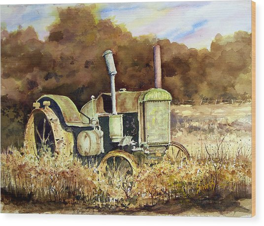 Johnny Popper Wood Print