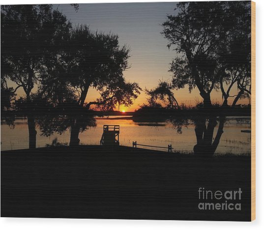 Johns Island Sunset Wood Print
