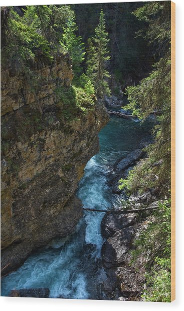 Johnson Canyon In Banff National Park, Canada Wood Print