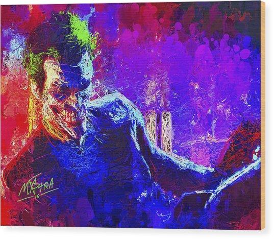 Joker's Grin Wood Print