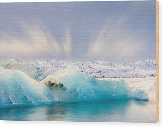 Jokulsarlon Glacier Lagoon Wood Print