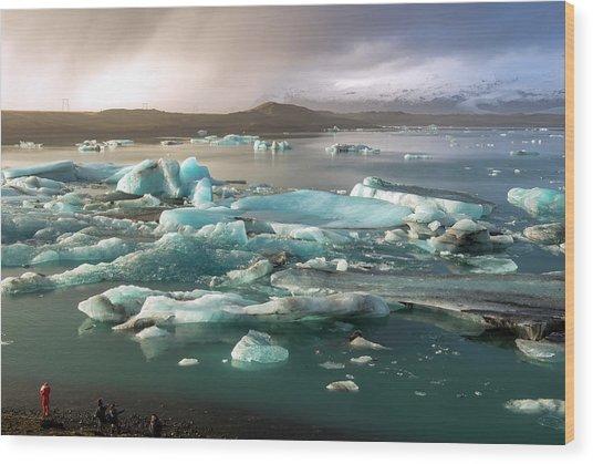Jokulsarlon The Magnificent Glacier Lagoon, Iceland Wood Print