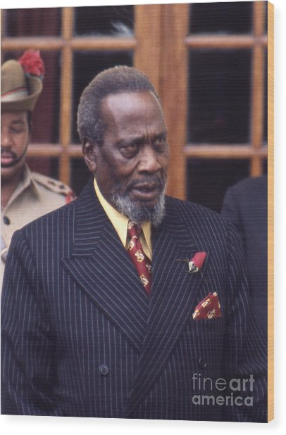 Jomo Kenyatta Wood Print