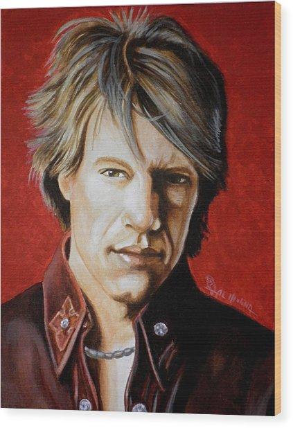 Jon Bon Jovi Wood Print