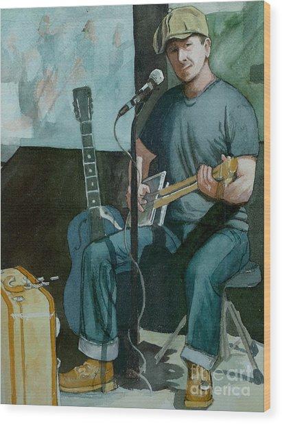 Jon Short-have Blues Will Travel Wood Print