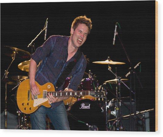 Jonny Lang Rocks His 1958 Les Paul Gibson Guitar Wood Print