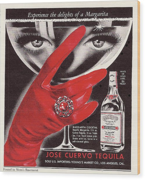 Wood Print featuring the digital art Jose Cuervo Tequila Experience The Delights Of A Margarita by Reinvintaged