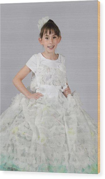 Josette In Dryer Sheet Dress Wood Print