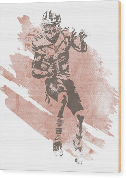 Josh Gordon Cleveland Browns Water Color Art 1 Wood Print