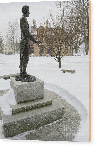 Joshua Lawrence Chamberlain Statue, Brunswick, Maine  -50415 Wood Print