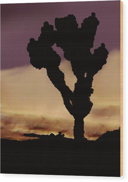 Joshua Tree Silo At Sunset Wood Print by Curtis J Neeley Jr