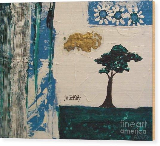 Journey Abstract Wood Print by Marsha Heiken