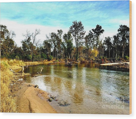 Journey To The Rivers Bend Wood Print