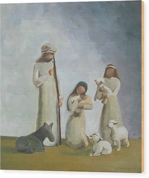 Joy Wood Print by Chelsie Brady