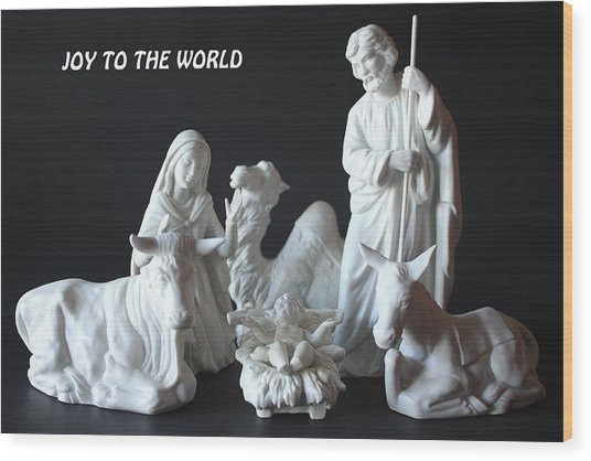 Joy To The World Wood Print by Angela Comperry