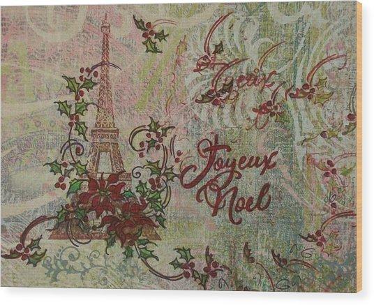 Joyeux Noel Wood Print