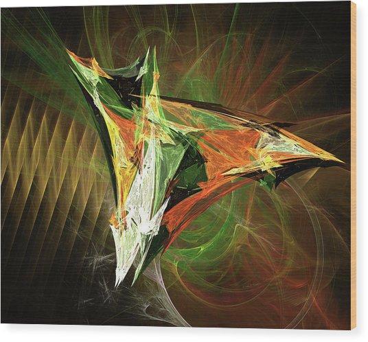 Jpk Digital Abstract 002 Wood Print