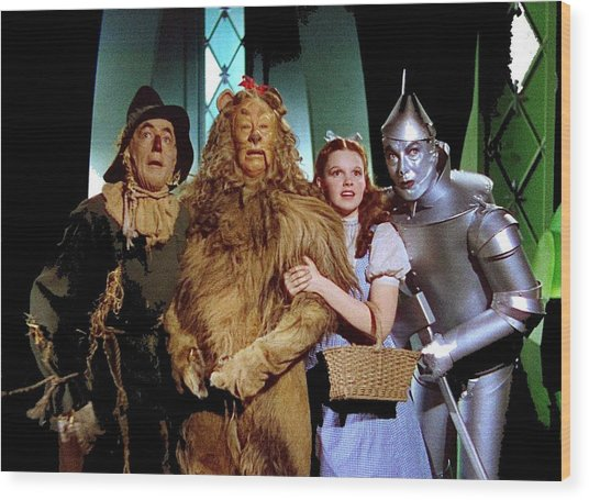 Judy Garland And Pals The Wizard Of Oz 1939-2016 Wood Print