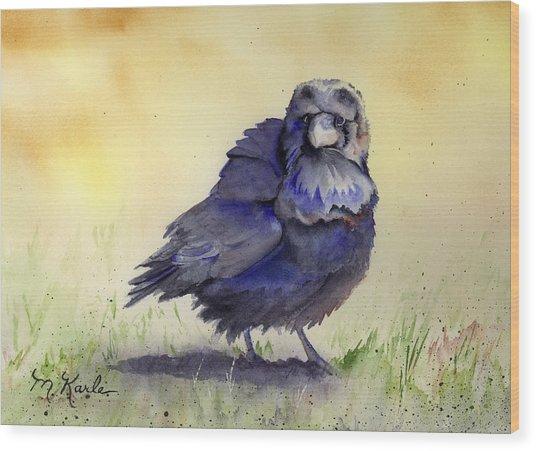 Judy's Raven Wood Print