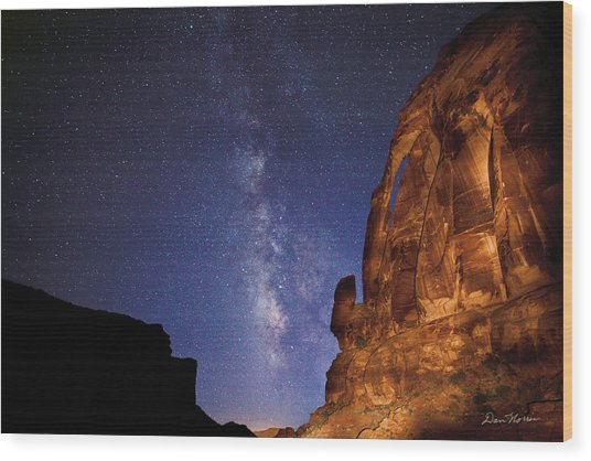 Jug Handle Arch And The Milky Way Wood Print