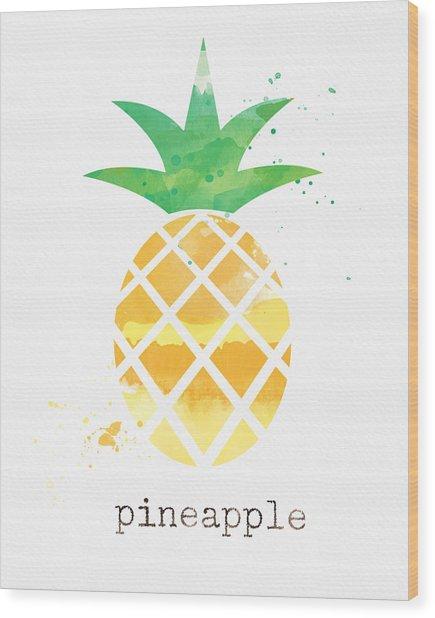 Juicy Pineapple Wood Print