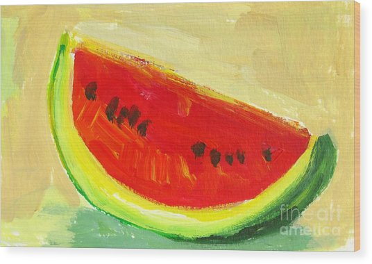 Juicy Watermelon - Kitchen Decor Modern Art Wood Print