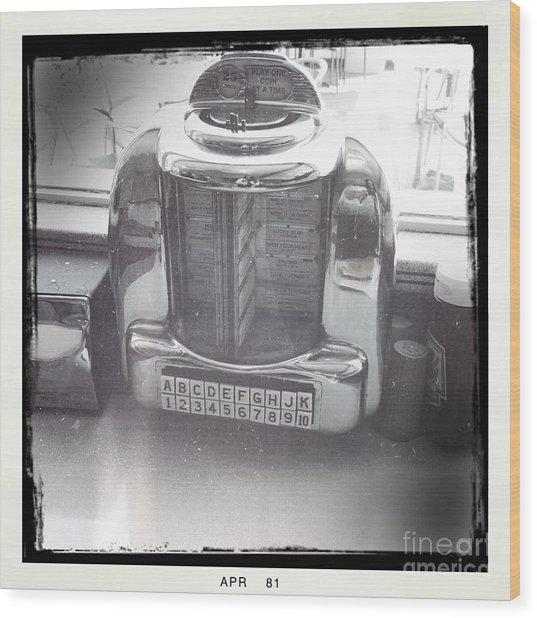 Juke Box Wood Print