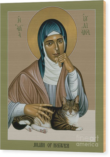 Julian Of Norwich - Rljon Wood Print