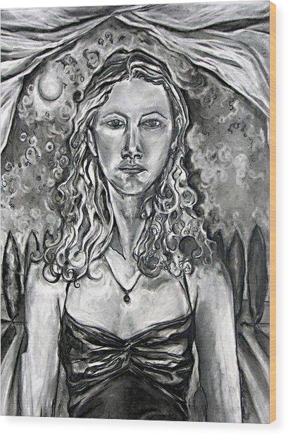 Julie In Spring Wood Print