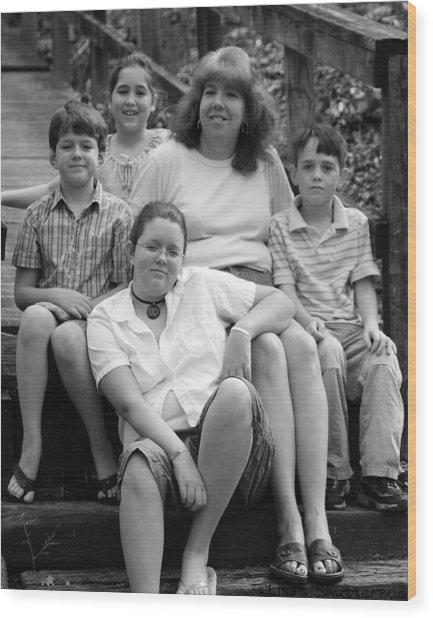 Julie's Family Wood Print by Lisa Johnston