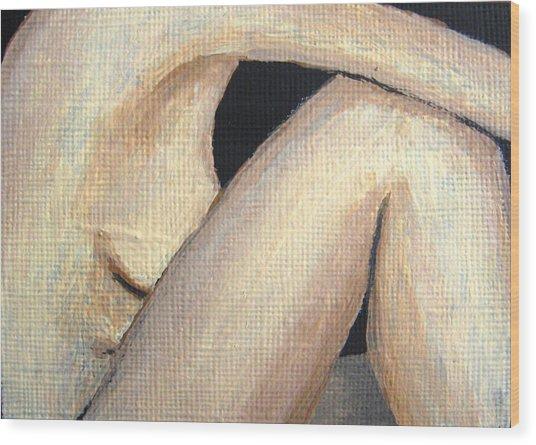 July Nude Wood Print by Deborah Rosier