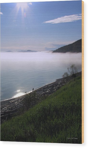 July Stroll On Lake Superior Wood Print by Laura Wergin Comeau