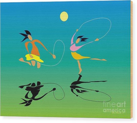 Jump-rope Wood Print