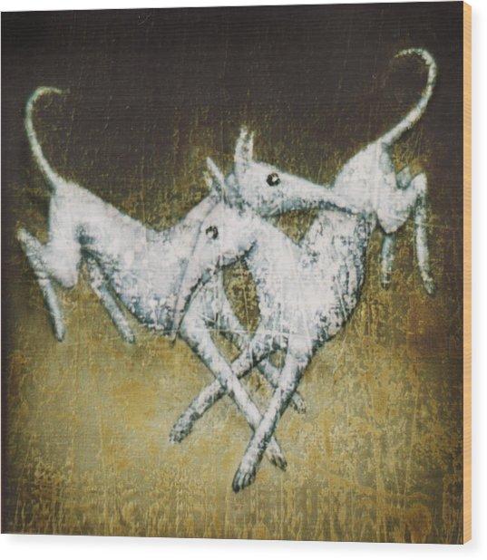 Jumping Of Joy Wood Print by Lolita Bronzini