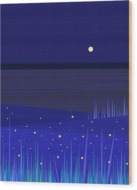 June Nights   Wood Print