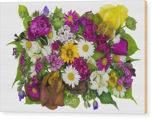 June Plants Concept Wood Print by Aleksandr Volkov