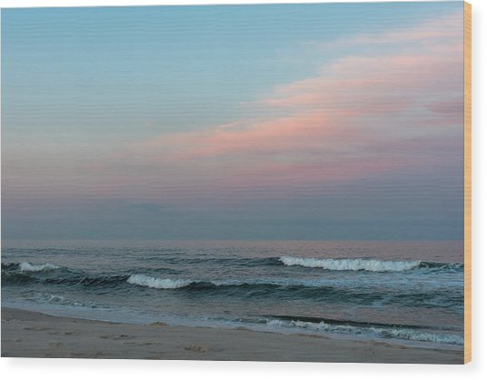 June Sky Seaside New Jersey Wood Print
