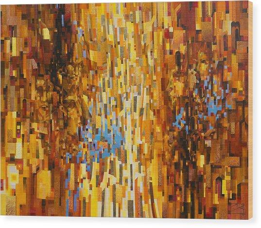 June Urban Matrix Wood Print