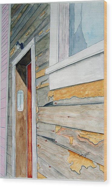 Juneau Townhouse Wood Print by Larry Wright