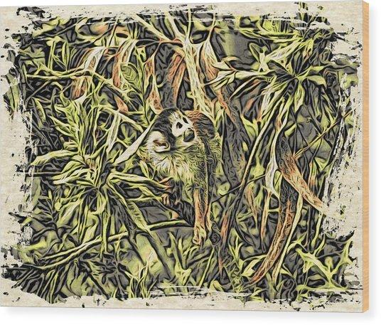 Jungle George Wood Print