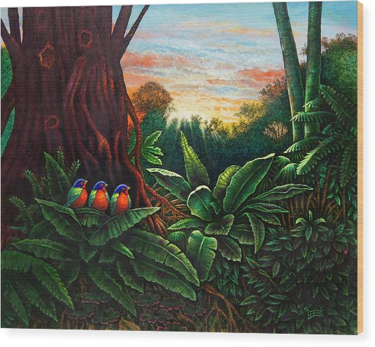 Jungle Harmony 3 Wood Print