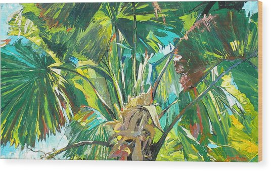 Jungle Wood Print by Jan Farara