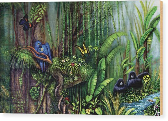 Jungle Talk Wood Print