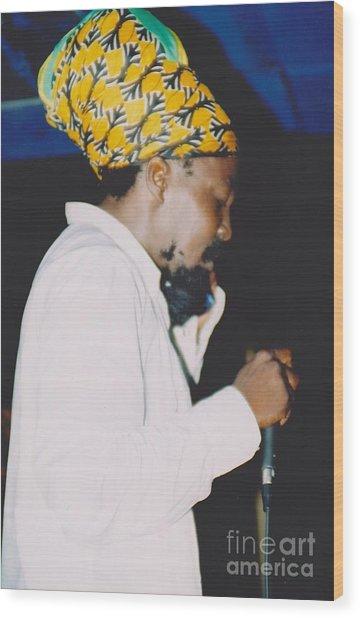 Junior Reid Black Uhuru Frontman Wood Print by Mia Alexander