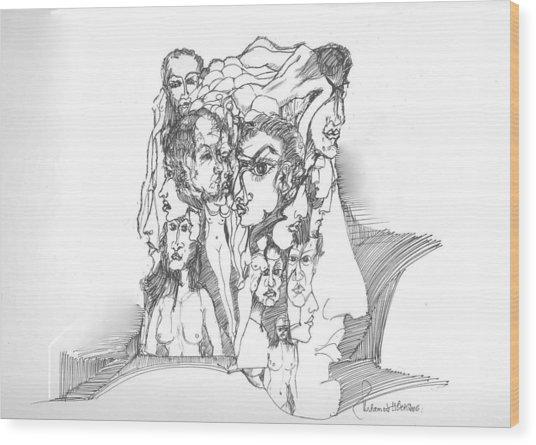 Junk In The Head Wood Print by Padamvir Singh