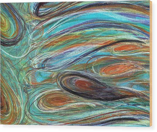 Jupiter Explored - An Abstract Interpretation Of The Giant Planet Wood Print