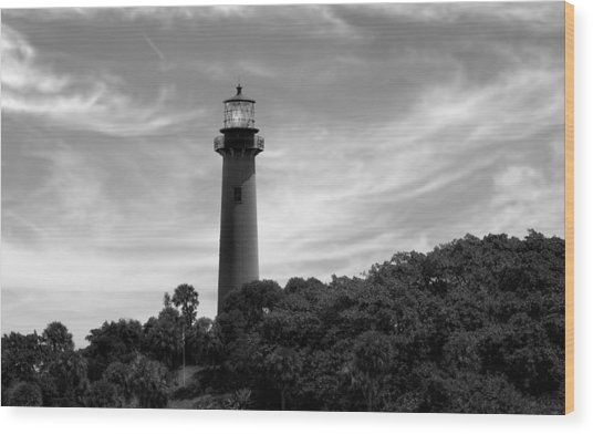 Jupiter Inlet Lighthouse - 8 Wood Print