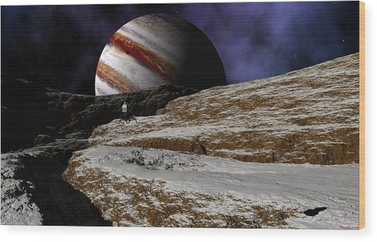 Jupiter Rise Wood Print