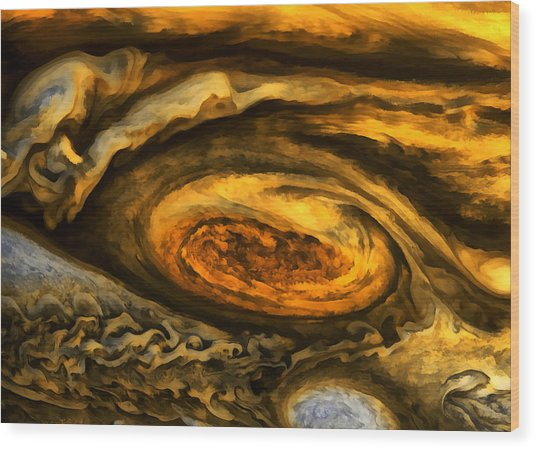 Jupiter's Storms. Wood Print